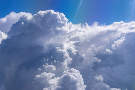 natural cloud landscape and sky aerial view of the blue sky and from above a Cloud
