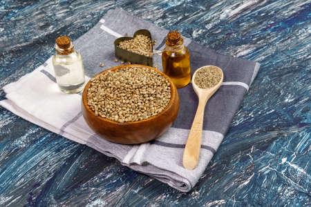Cannabis oil temp oil with cannabis seeds. alternative medicine