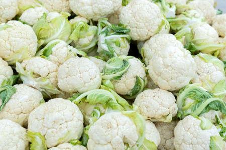 Cauliflower inflorescence. Vintage of cauliflower. background, texture Archivio Fotografico