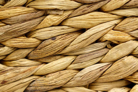 Close-up of the texture surface of a wicker basket, macro. background Banque d'images