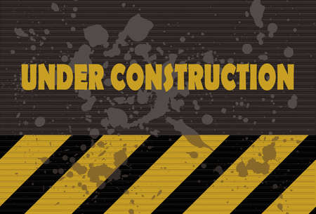 cray: Under construction sign grunge style Illustration