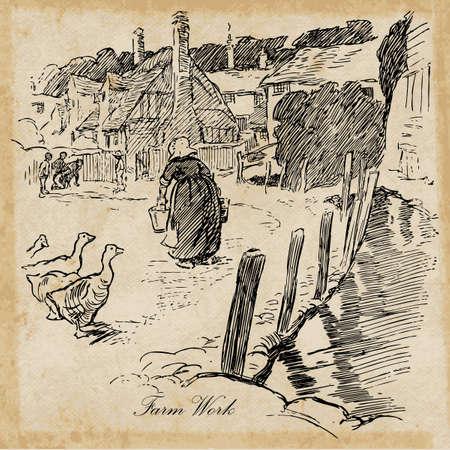public domain: Clip art against grunge background.  Original drawing is public domain.