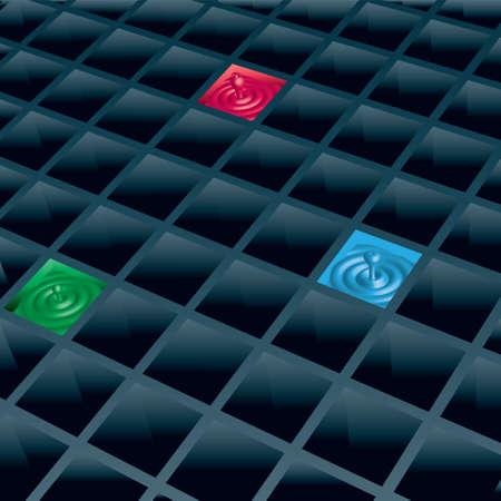 gocce di colore: Cellule Vektor con gocce di colore.