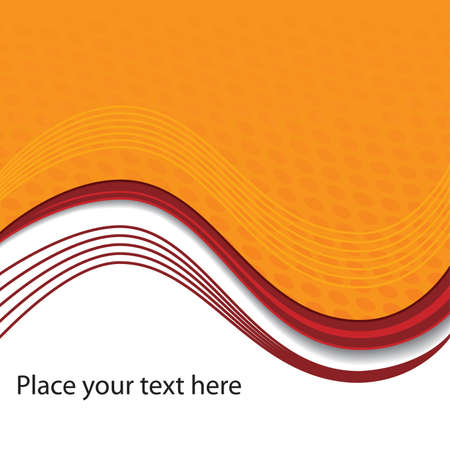 up code: Orange background with space for text.