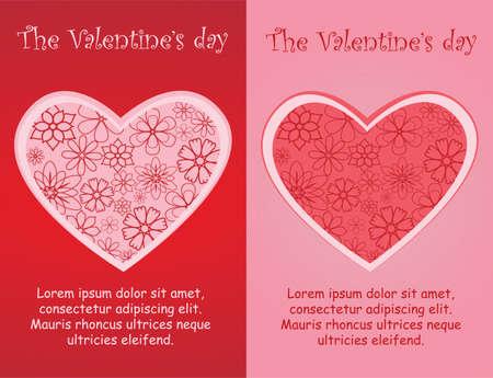 days: The Valentine days greeting card