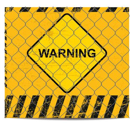 cray: Warning grunge background