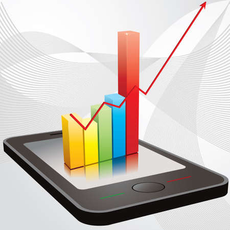 Chart over mobile telephone Illustration