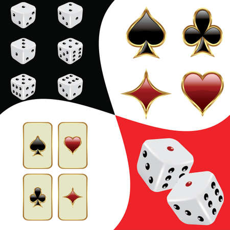 Cards and dices background