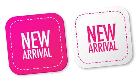 Nieuwe aankomst stickers Vector Illustratie