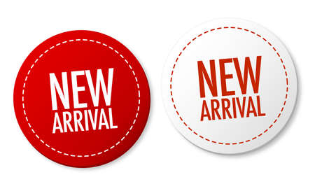 rounded circular: New arrival stickers