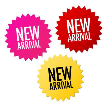 etiquetas redondas: Nuevas etiquetas de llegada