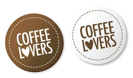 Amateurs de café autocollants Banque d'images - 10136417