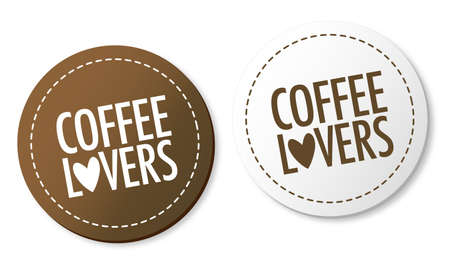 Coffee lovers stickers Vector