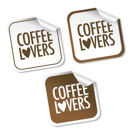 Coffee lovers stickers