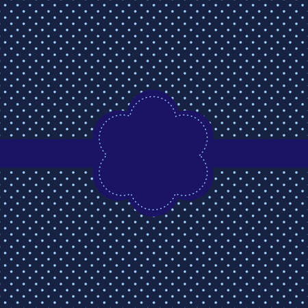 polka dot: Vintage card, polka dot design