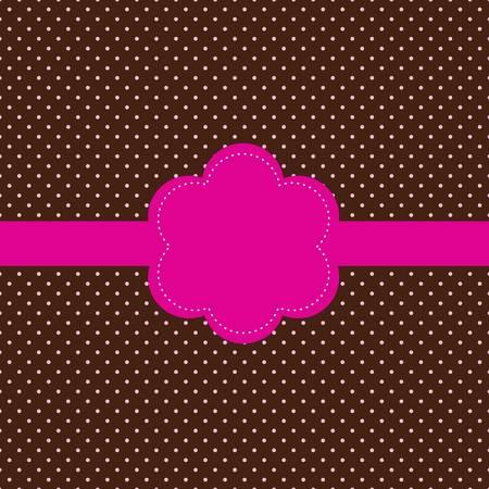 dot: Vintage card, polka dot design