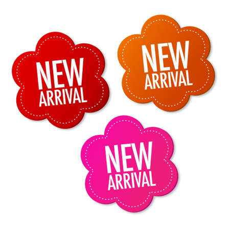 New arrival stickers Stock Vector - 10136425