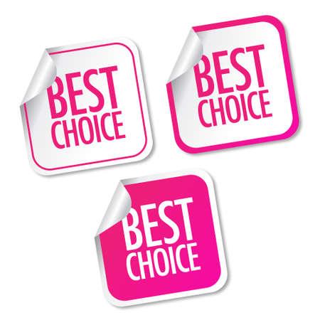 Best choice stickers Illustration