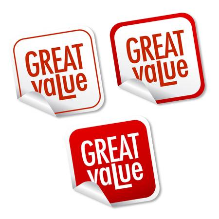 Great value stickers Stock Vector - 10334605