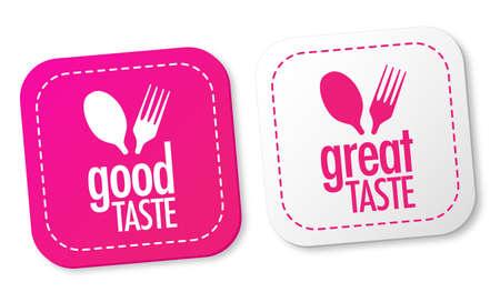 Goede smaak en een heerlijke smaak stickers