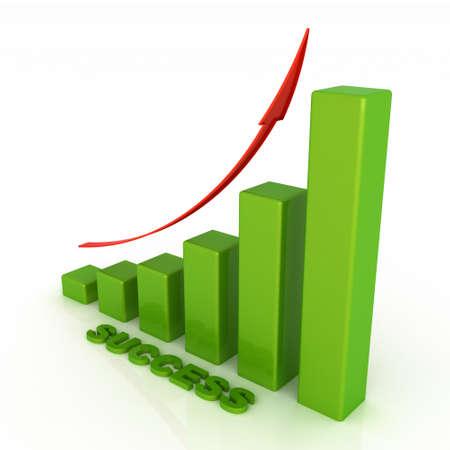 ertrag: Business-Grafik mit Erfolg