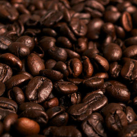large bean: Coffee beans background Stock Photo