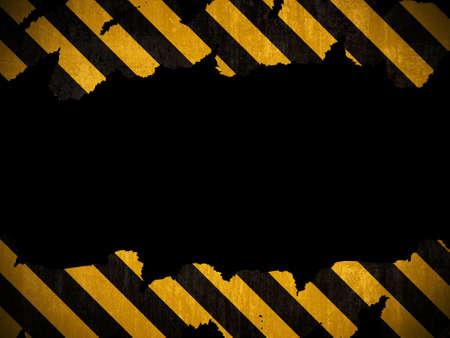 hazard: Warning background Stock Photo