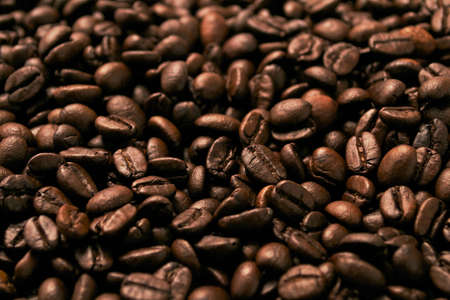 Brown coffee beans background