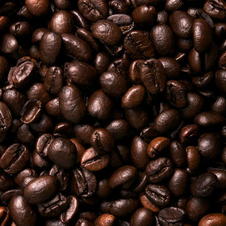 Brown coffee beans background photo