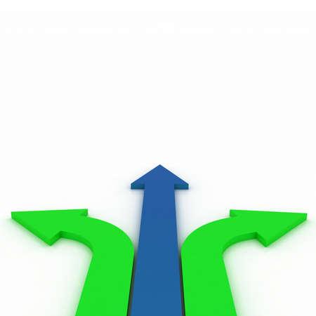 individui: Frecce in tre direzioni