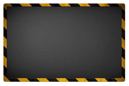 diagonal stripes: Warning blackboard background Stock Photo