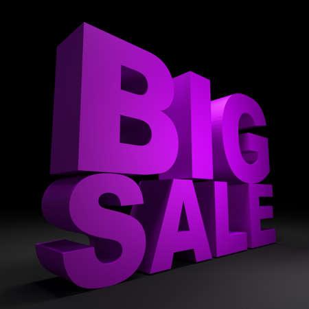 sales floor: 3d text BIG SALE