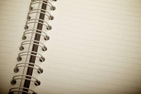 Close-up open notebook
