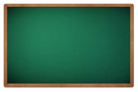 Green blank blackboard with wooden frame photo