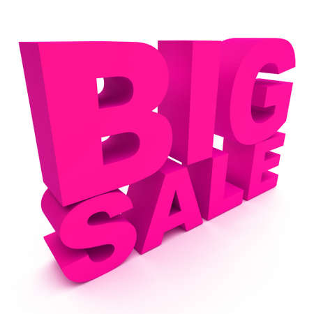 3d text BIG SALE photo