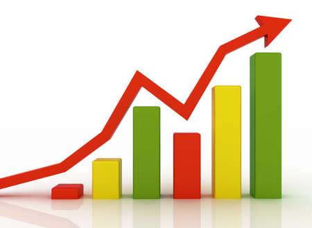 Business grafiek Stockfoto