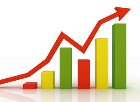 Business graph Stock Photo - 10549326