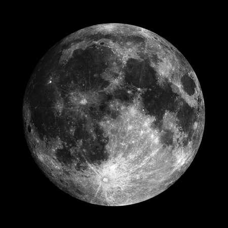Night sky with full moon Stock Photo