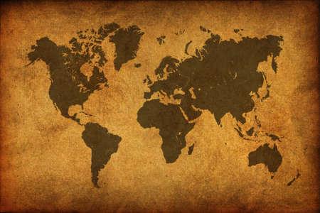 World map vintage pattern photo