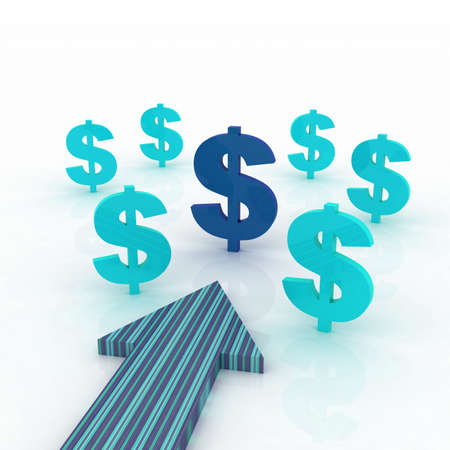 Arrows direction with dollars sign