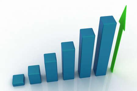 3D growing business graph