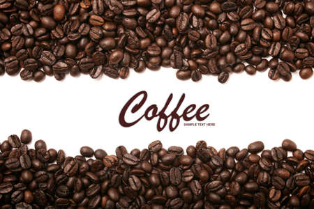Coffee beans stripes background Stock Photo