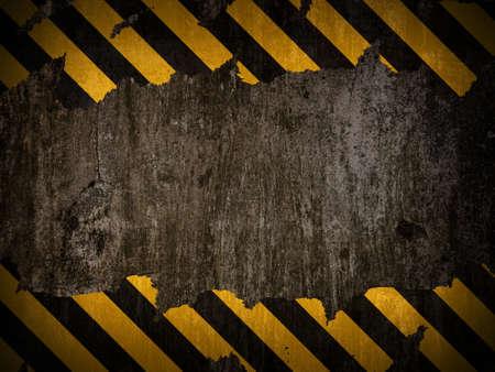 전통적인 검정색과 노란색 경고 배경
