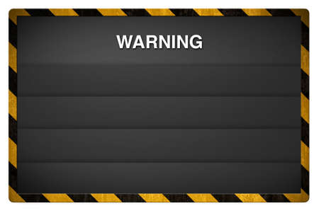 Warning blackboard background photo