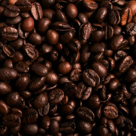 Roasted coffee beans background photo