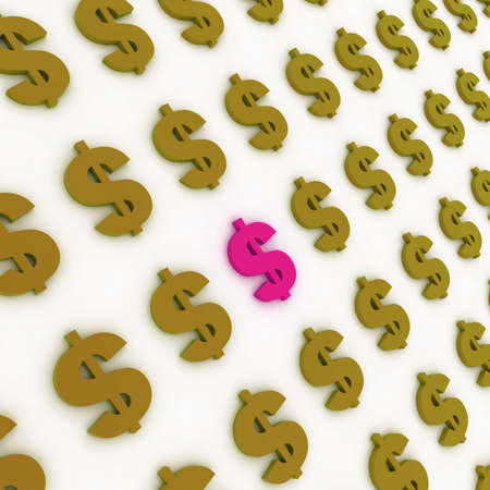 Dollar sign background Stock Photo