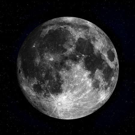 completo: Luna llena en el cielo nocturno