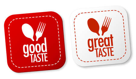 Good taste and Great taste stickers Stock Vector - 11137258