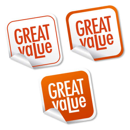 Great value stickers Vector