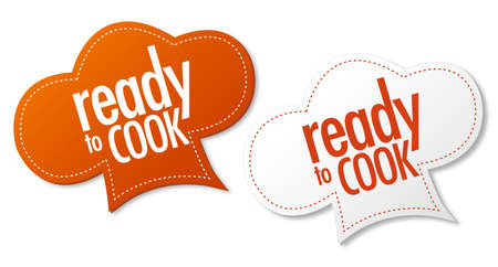 Ready to cook stickers Illustration